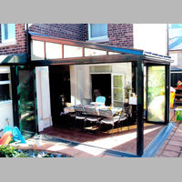 conservatory with lean-to roof